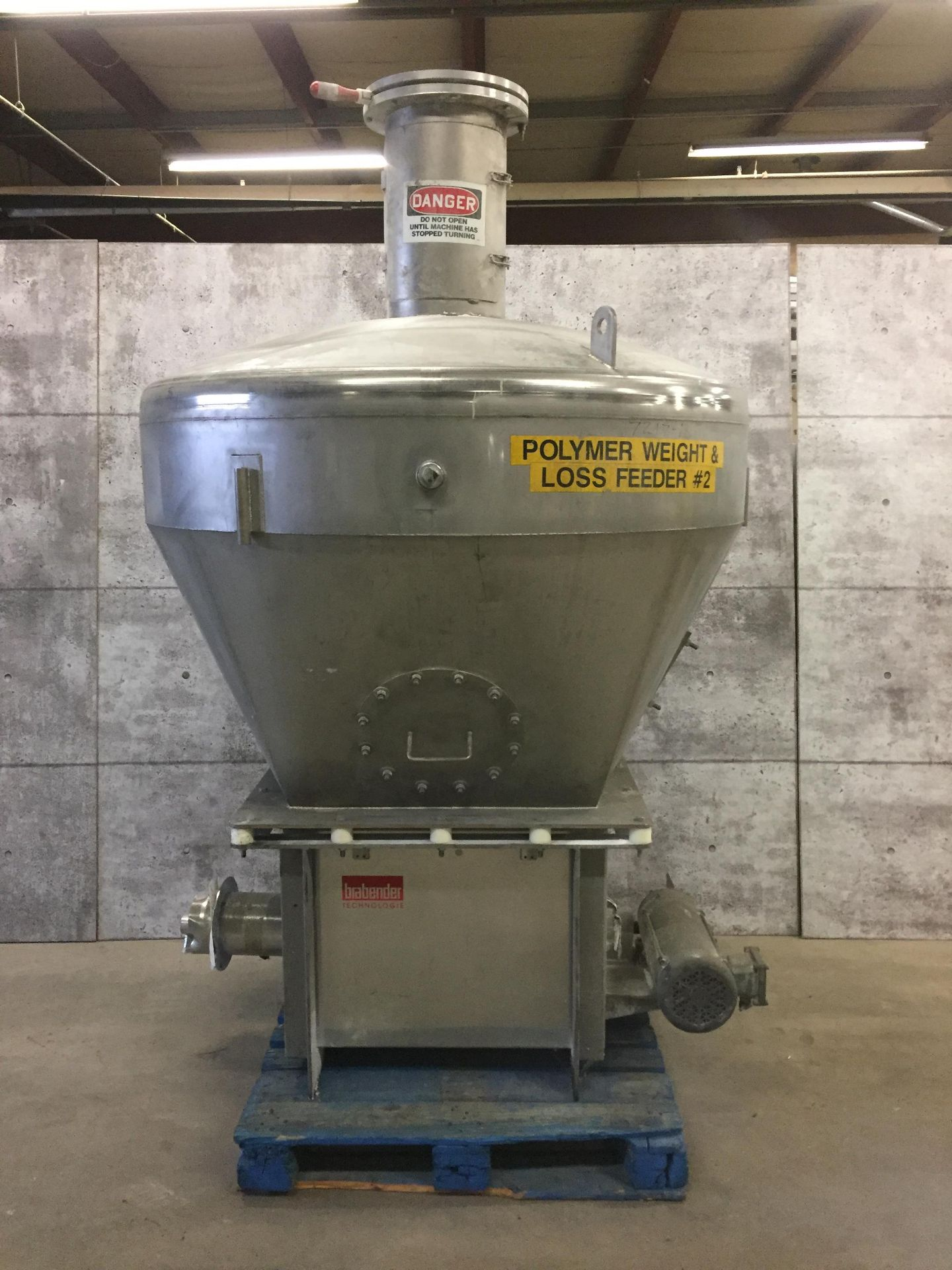 BALDOR (NO. AF 982008) STAINLESS STEEL POWDER PACKAGING UNIT - TAKES BULK POWDER AND CONTROLS THE