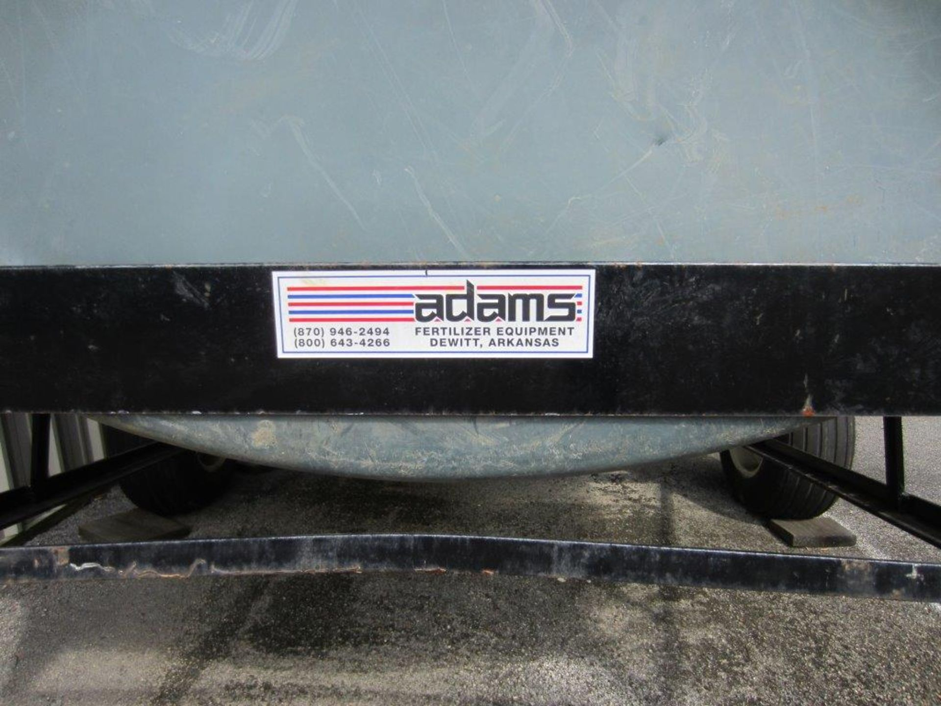 ADAMS SINGLE AXLE TRAILER WITH OIL DRUM (SUBJECT TO GROUP LOT 7) - Image 2 of 3