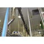 """Over 75' Can Line with S/S Frame Lid Conveyor with 10"""""""" Wide Plastic Table Chain and Drive"""