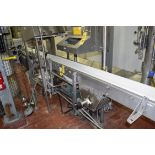 """S/S Frame Product Conveyor with Interlox Belt and Drive, Dimensions = 127"""" X 6"""""""