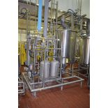 S/S Skid Mounted Chocolate System with (2) Fristam Pumps, Viking Pump, CFR 200 Gallon Jacketed