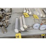 (3) Clear Vue Right Angle Thermometers**Rigging Fee $25