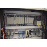 2009 Allen Bradley Logix 5561 PLC, with I/O Cards, PowerFlex 40 Variable Frequency Drives, Relays,