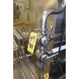 """Tri Clover and Other 2"""" and 1.5"""" S/S Plug Valves, Clamp Type, with Clamps**Rigging Fee $50"""