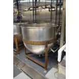 Lee 150 Gallon S/S Jacketed Kettle, Max Pressure 90 PSI, Max Temperature 332° F, Hydro Test Pressure