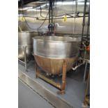 Lee 200 Gallon S/S Jacketed Kettle, Max Pressure 40 PSI, Max Temperature 200° F, Hydro Test Pressure