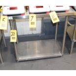"""Regency S/S Work Table with Under Shelf, 24"""" x 36"""", Rigging Fee: Please Contact US Rigging 920-655-"""