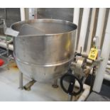 Groen 80 Gallon S/S Jacketed Tilting Kettle Model: DT 80 SP, MAWP 25 PSI @ 300° F, National