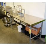 """(2 pieces) 30"""" x 72"""" S/S Table and Whiteboard Rigging Fee $ 25"""