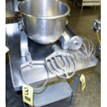 Hobart Attachments: Whisk and (2) Mixers Rigging Fee $ 25
