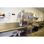 """Ecolab S/S Dishwasher Model E5-2000 with S/S Sink, Infeed Table, Sprayer and Vanguard Was Mix 30"""""""
