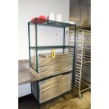 """(15) 18"""" x 26"""", S/S Baking Trays with Rack Rigging Fee $ 50"""