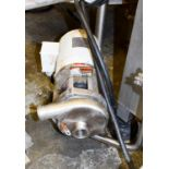 """Top Flow 1/2 HP Pump with Lesson 3,450 RPM Motor and 1.5"""" x 1.4"""" S/S Head, Clamp Type Rigging"""