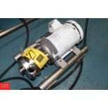 """SPX TriClover 2 HP Pump with Baldor 3,490 RPM Motor and 2"""" x 1.5"""" S/S Head, Clamp Type- Rigging Fee:"""