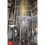 S/S Spray Dryer 100 Liquid kg/hr Input at 20% Solids at 400° F, 20kg/hr Powder Output at 200°F