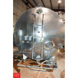 5,000 ± Gallon, S/S Jacketed Horizontal Tank with S/S Front- Rigging Fee: $1200