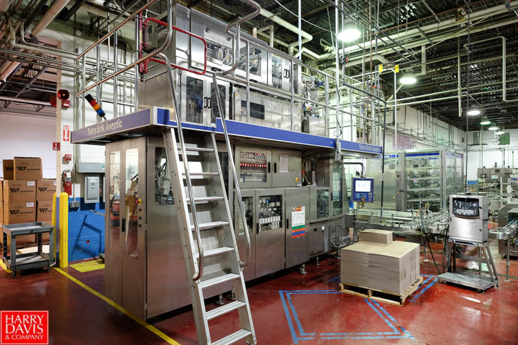 Lot 1 - Tetra Pak Tetra Brik Aseptic Packaging Line, Model: ASU/19 TBA 125 Slim