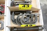 "Lot 43 - (4) ASSORTED 3-1/2"" & 4"" C-CLAMPS"