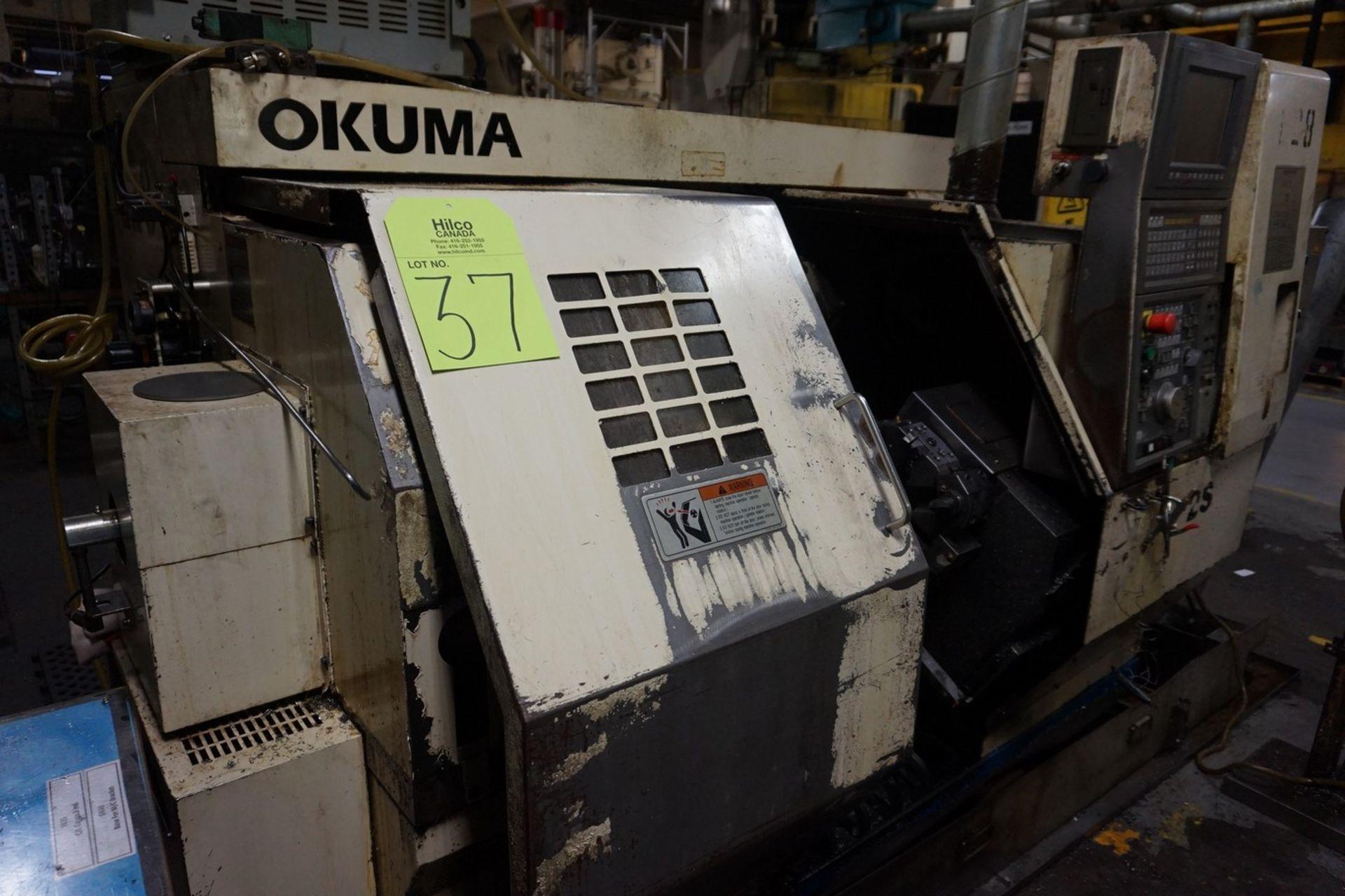Okuma Model LCC15-2S CNC Lathe 220/240V c/w Chip Conveyor, Transformer