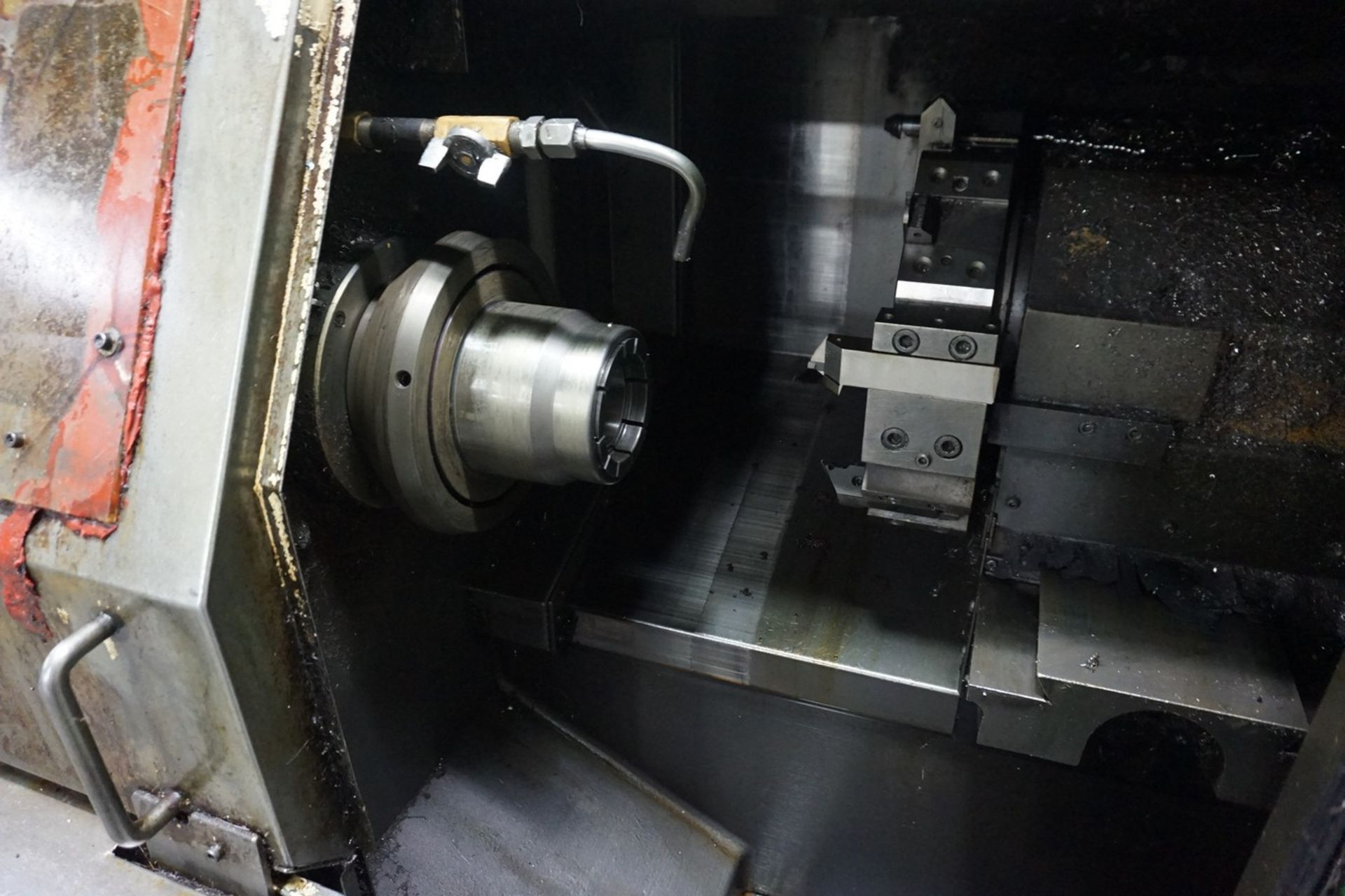 Takamatsu Model X10 CNC Lathe 200/220V c/w Chip Conveyor, Transformer - Image 3 of 6