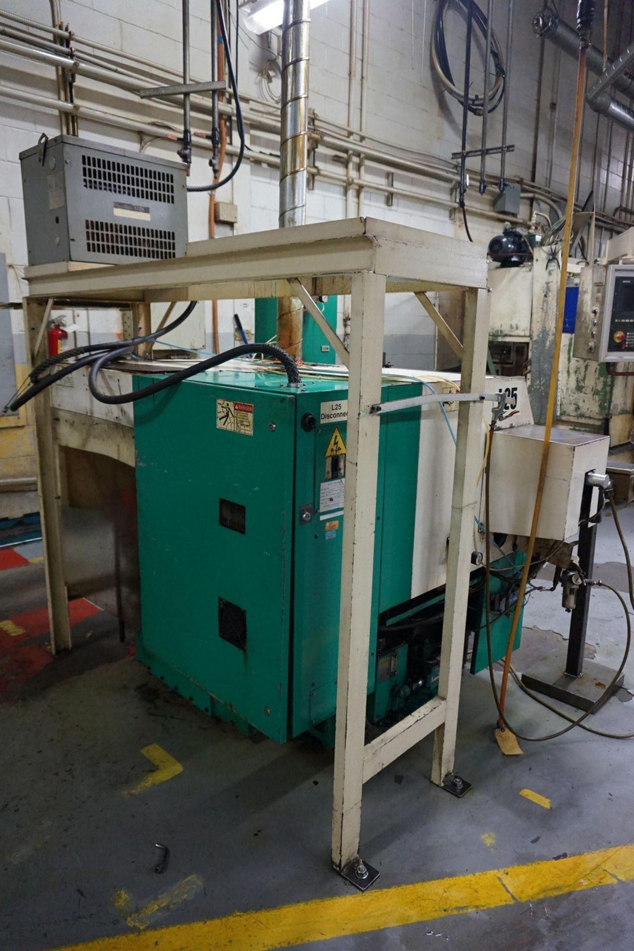 Takamatsu Model X10 CNC Lathe 200/220V c/w Chip Conveyor, Transformer - Image 5 of 6