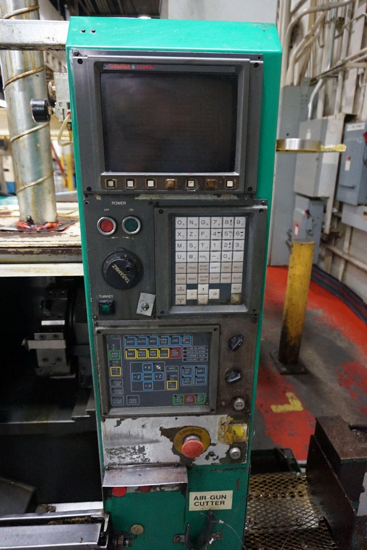 Takamatsu Model X10 CNC Lathe 200/220V c/w Chip Conveyor, Transformer - Image 2 of 6