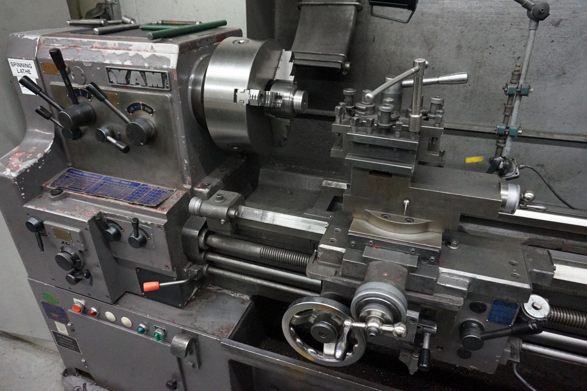 Yam Model 1500H Horizontal Lathe with Quick Change Tool Post, Spindle Bore - Image 2 of 5