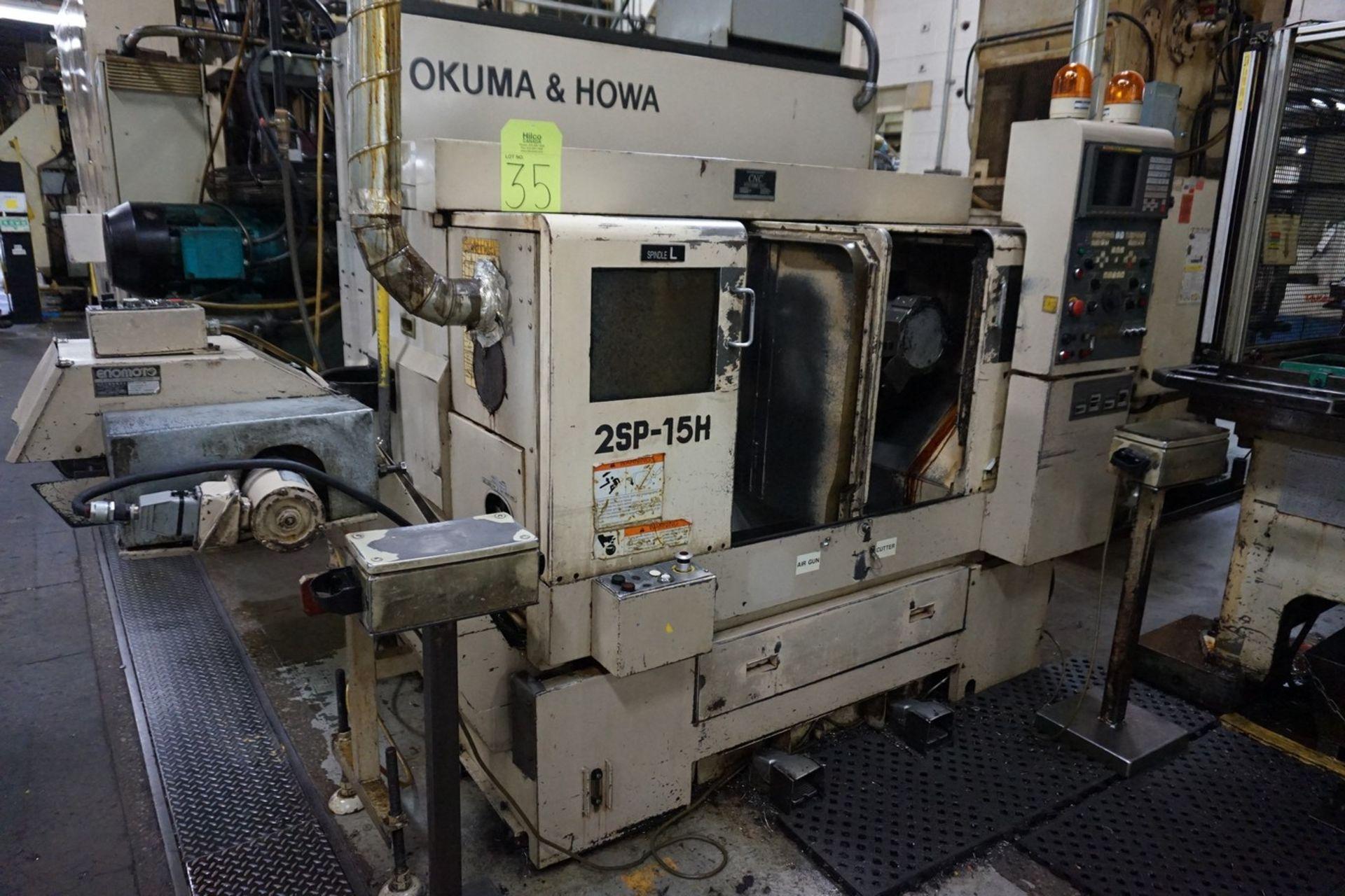 Okuma-Howa Model 2SP-15H CNC Lathe c/w Fanuc 18-TT Controller, Transformer