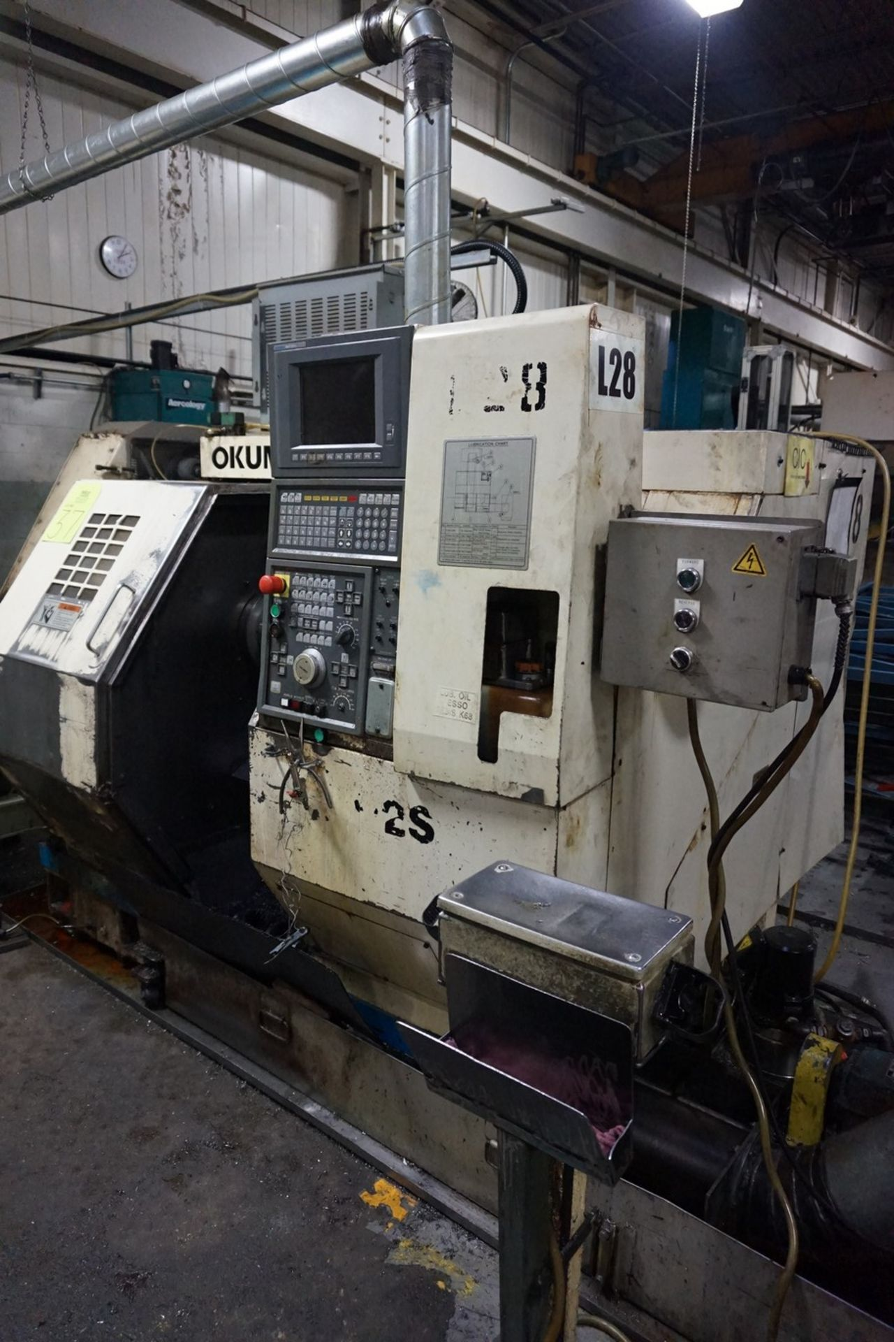 Okuma Model LCC15-2S CNC Lathe 220/240V c/w Chip Conveyor, Transformer - Image 2 of 11