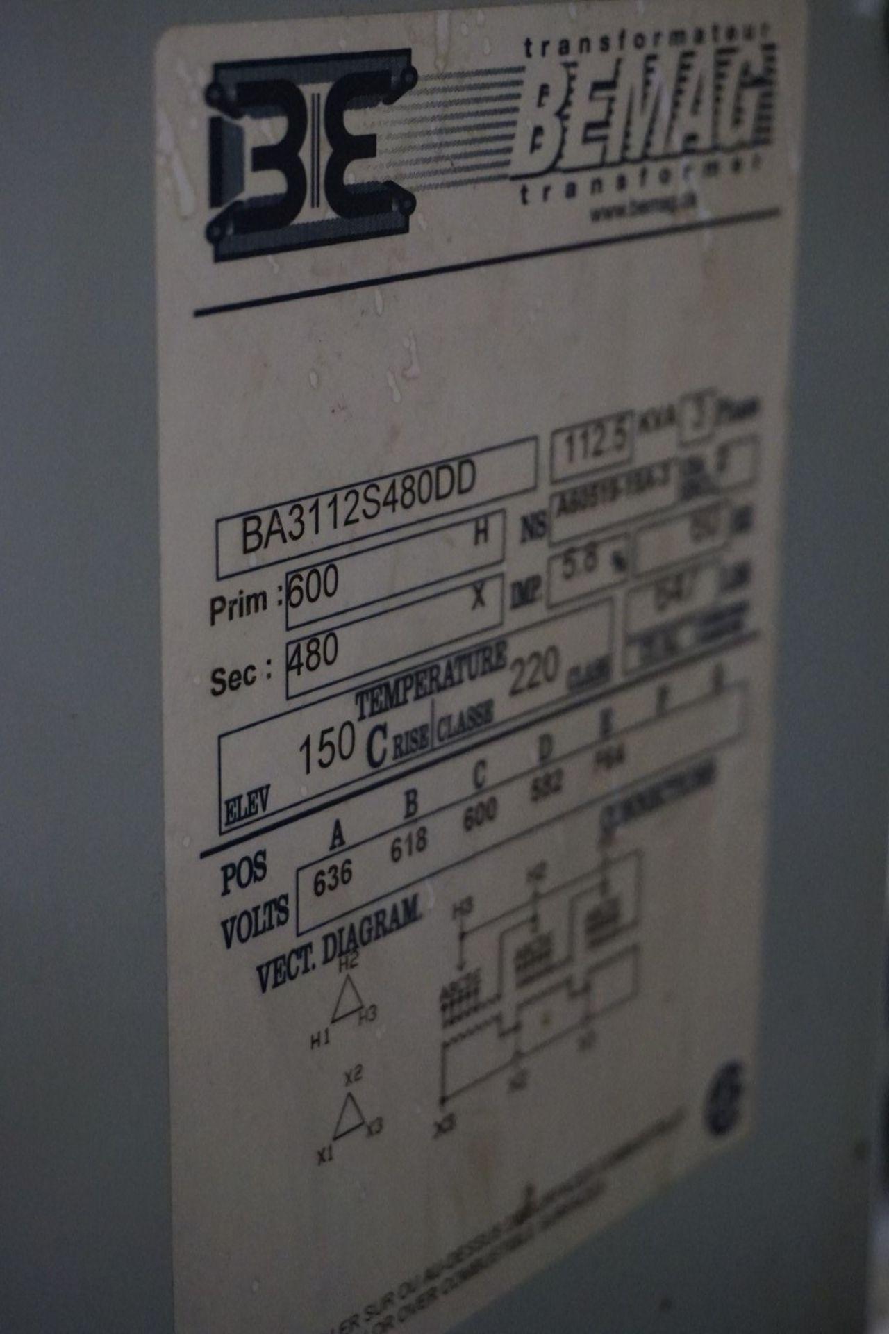 JVC Type 0H3-30C-375C 600V, 30 Kva Transformer - Image 2 of 2