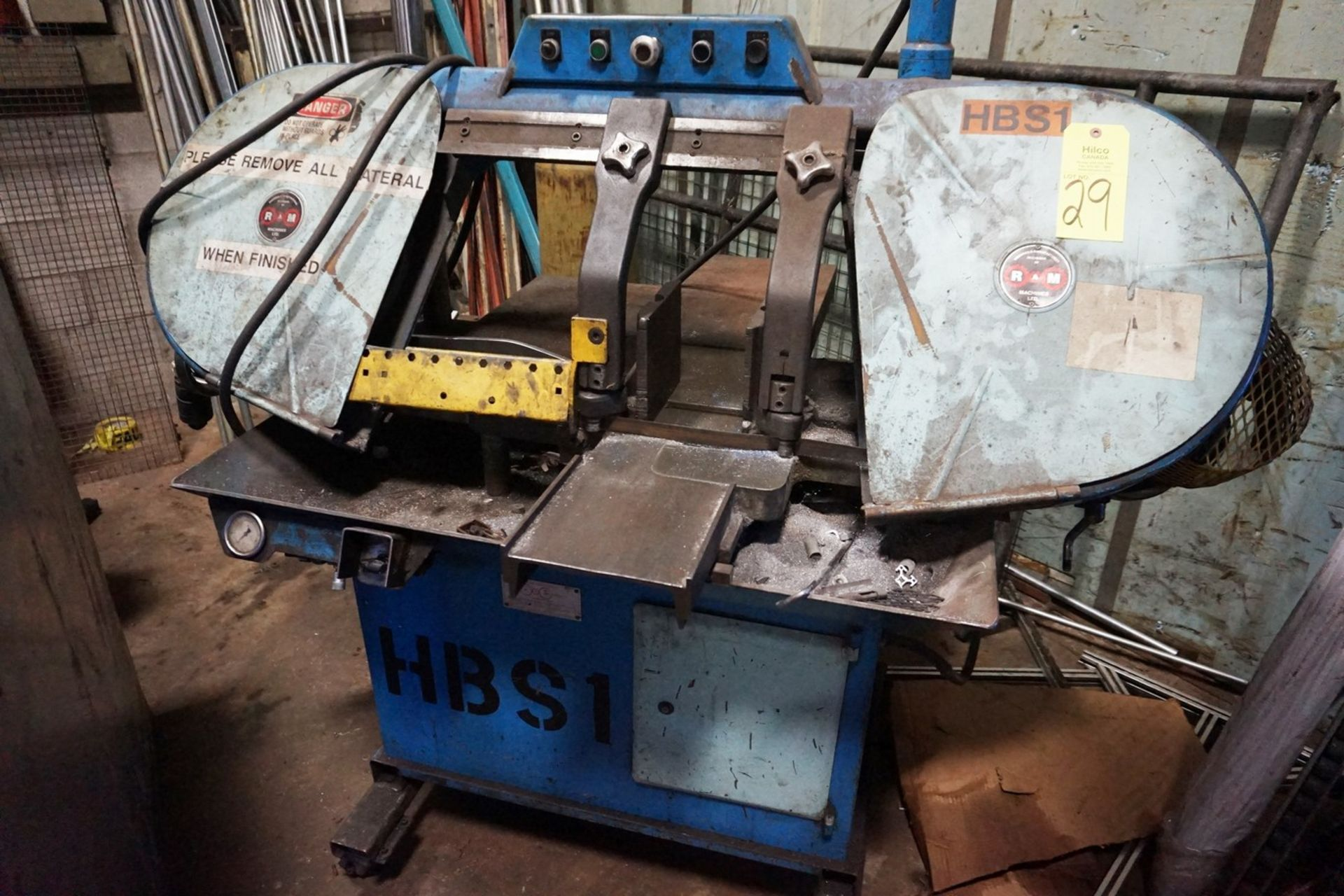 RA Machines Model V550 Horizontal Metal Cutting Band Saw
