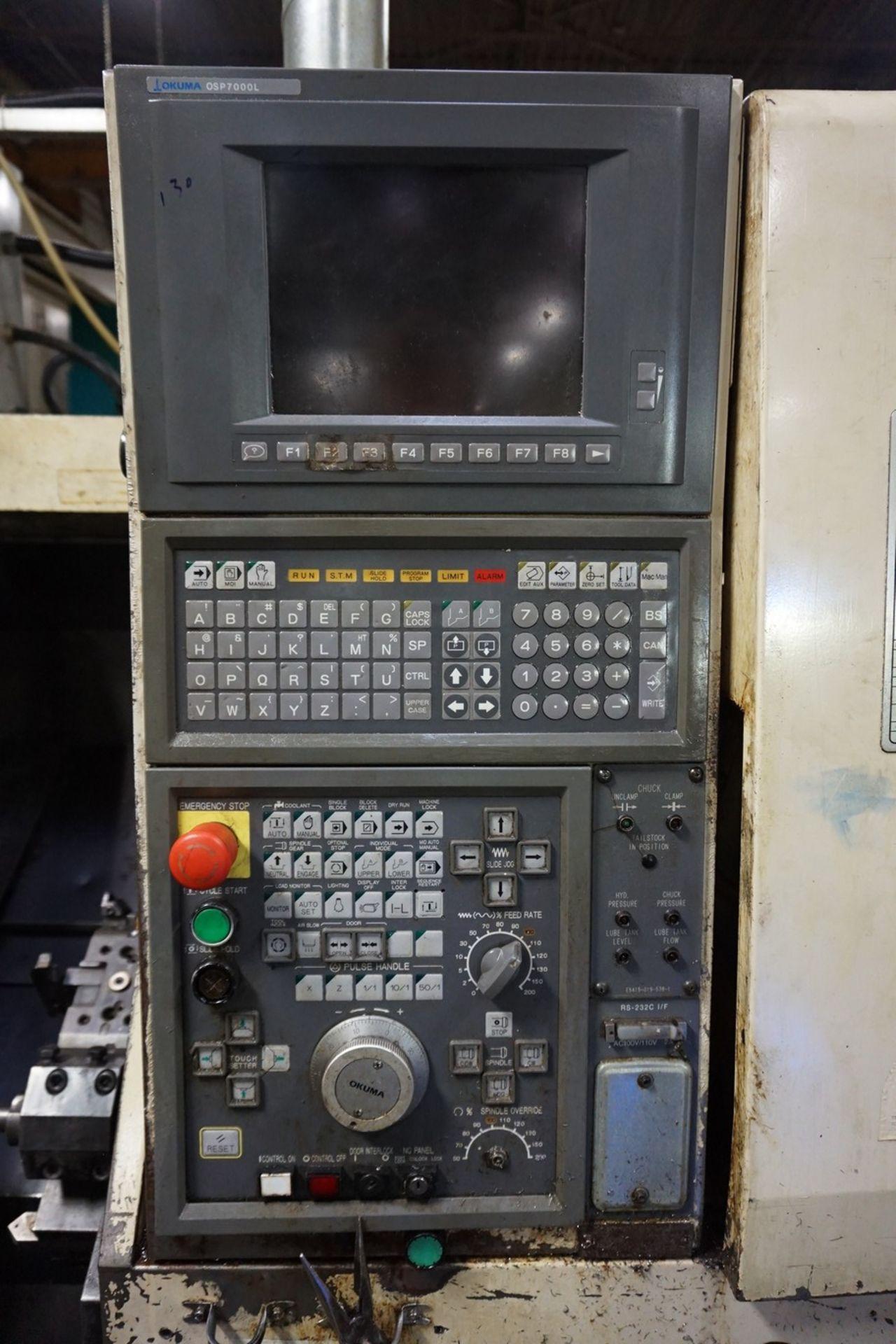 Okuma Model LCC15-2S CNC Lathe 220/240V c/w Chip Conveyor, Transformer - Image 3 of 11