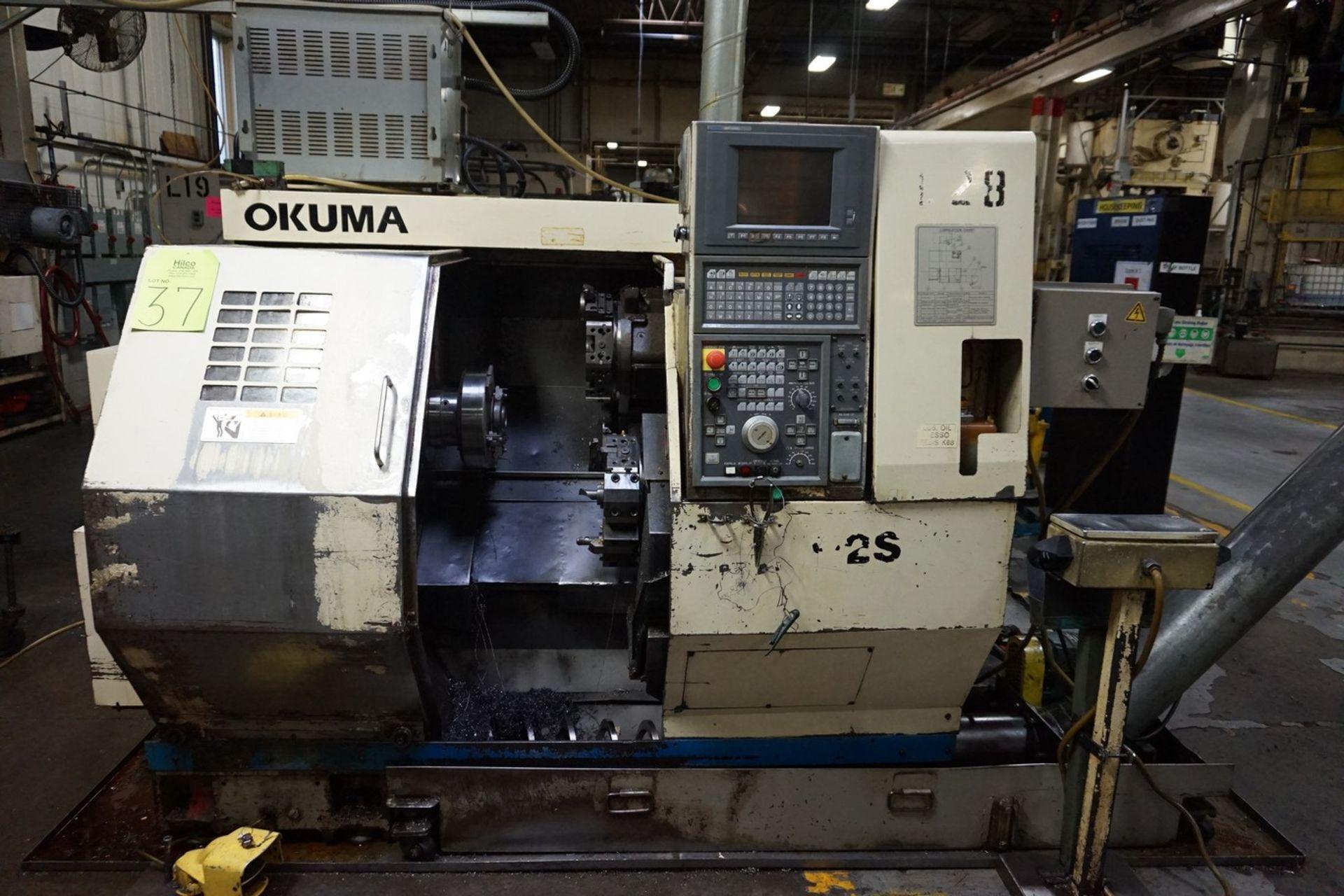 Okuma Model LCC15-2S CNC Lathe 220/240V c/w Chip Conveyor, Transformer - Image 6 of 11