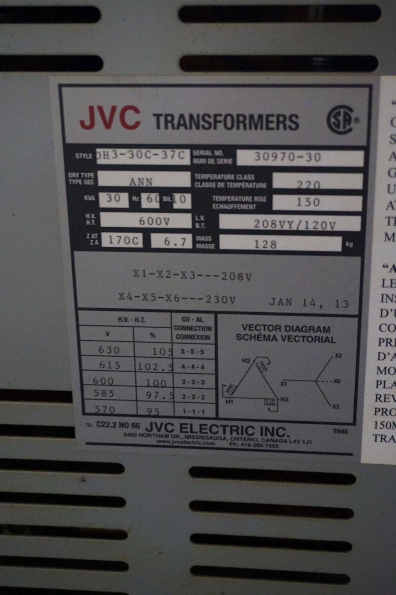 Bemag Model BA3112S480DD 600V, 112.5 Kva Transformer - Image 2 of 2