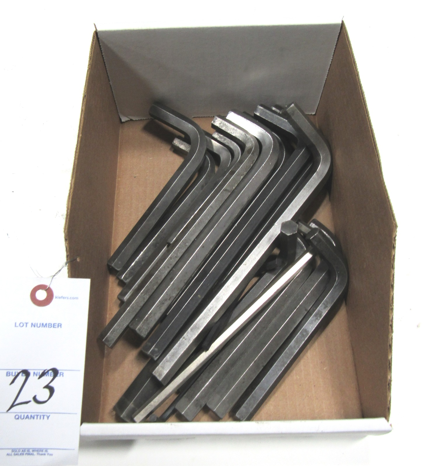 Lot 23 - Lot Asst Allen Wrenches