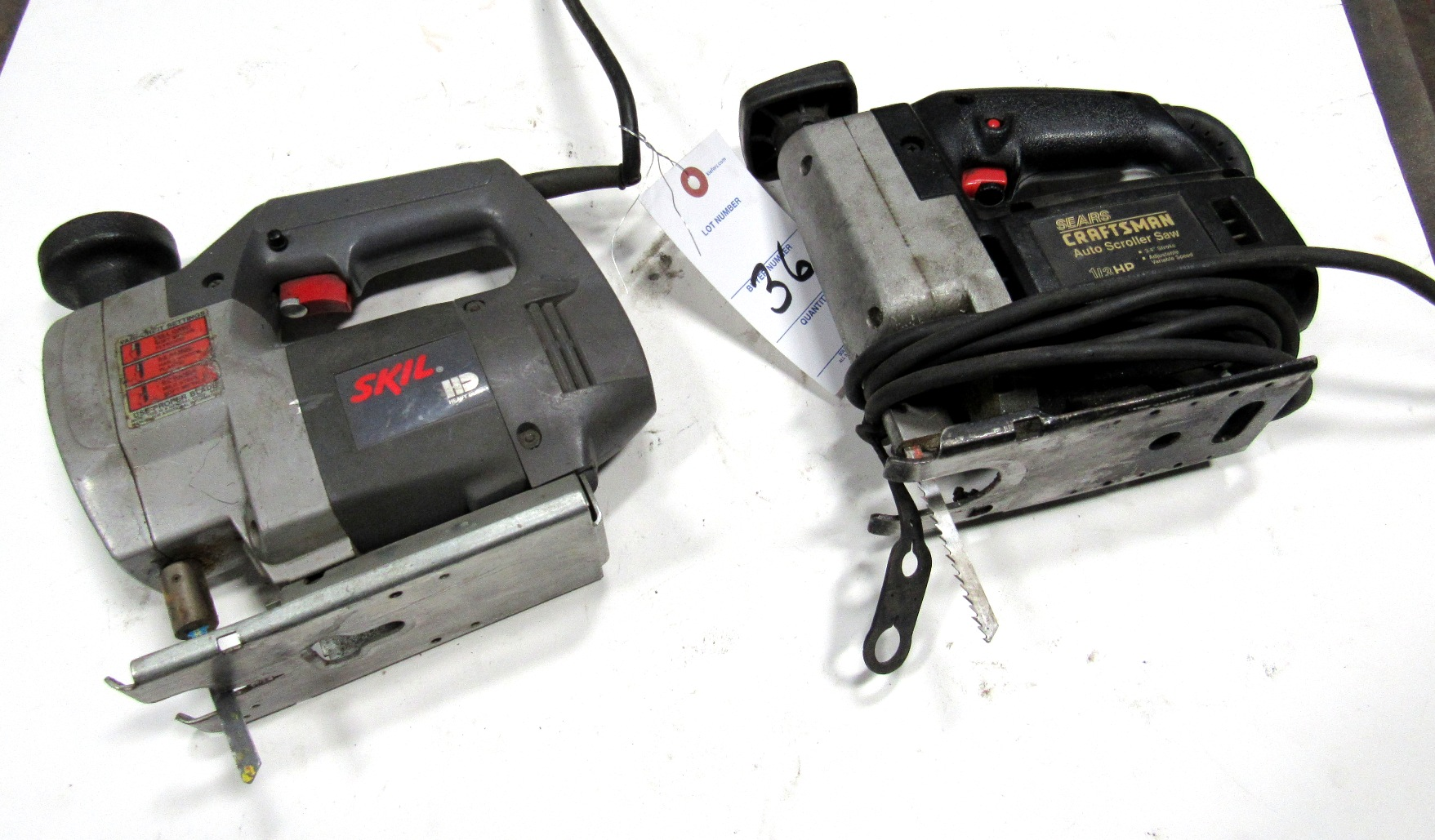 Lot 36 - Skil & Craftsman Electric Scroll Saws
