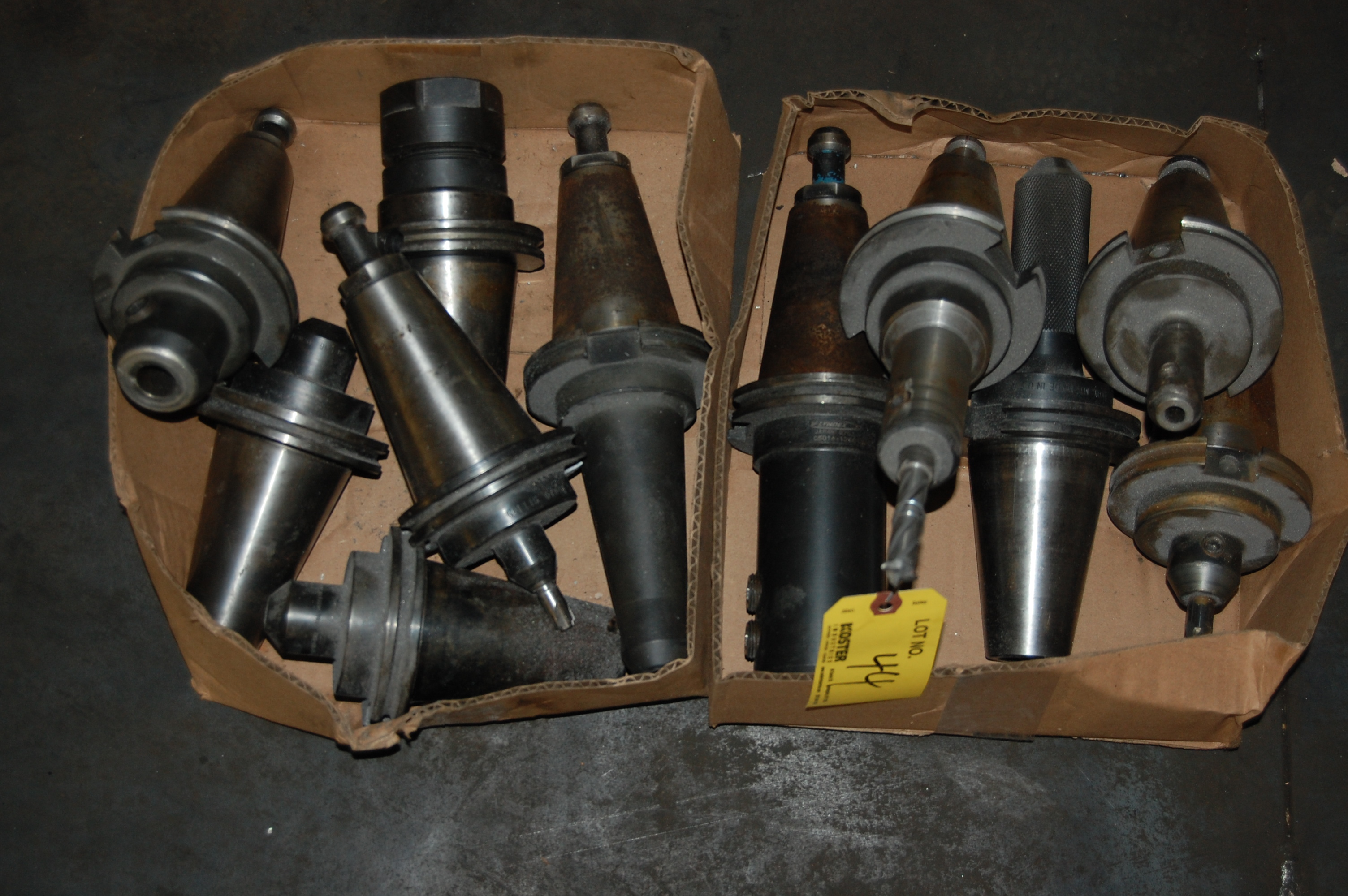 Lot 44 - (11) #50 TAPER TOOL HOLDERS (LOCATED IN HARRISON, NEW JERSEY)