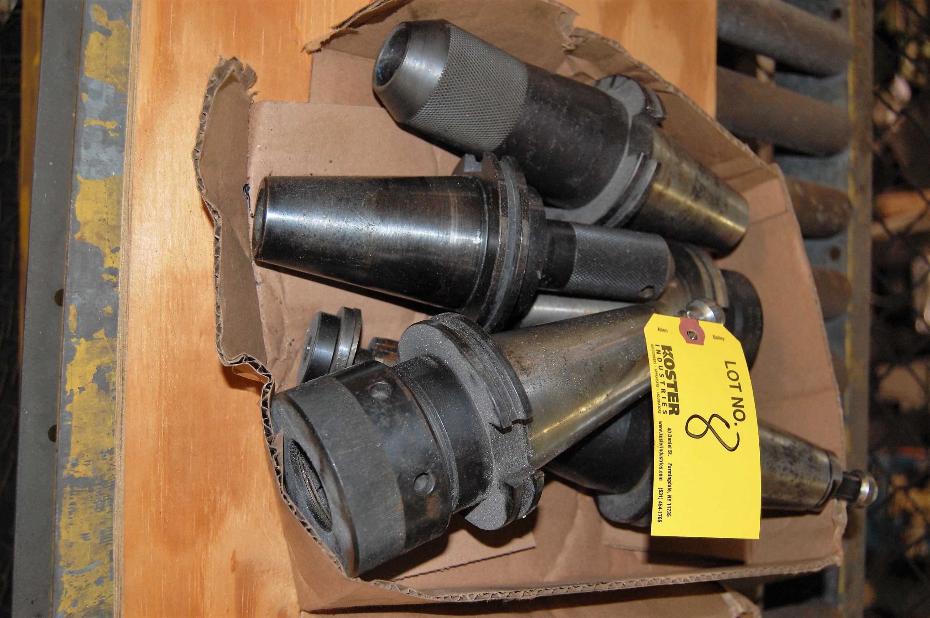 Lot 8 - (5) #50 TAPER TOOL HOLDERS (LOCATED IN HARRISON, NEW JERSEY)