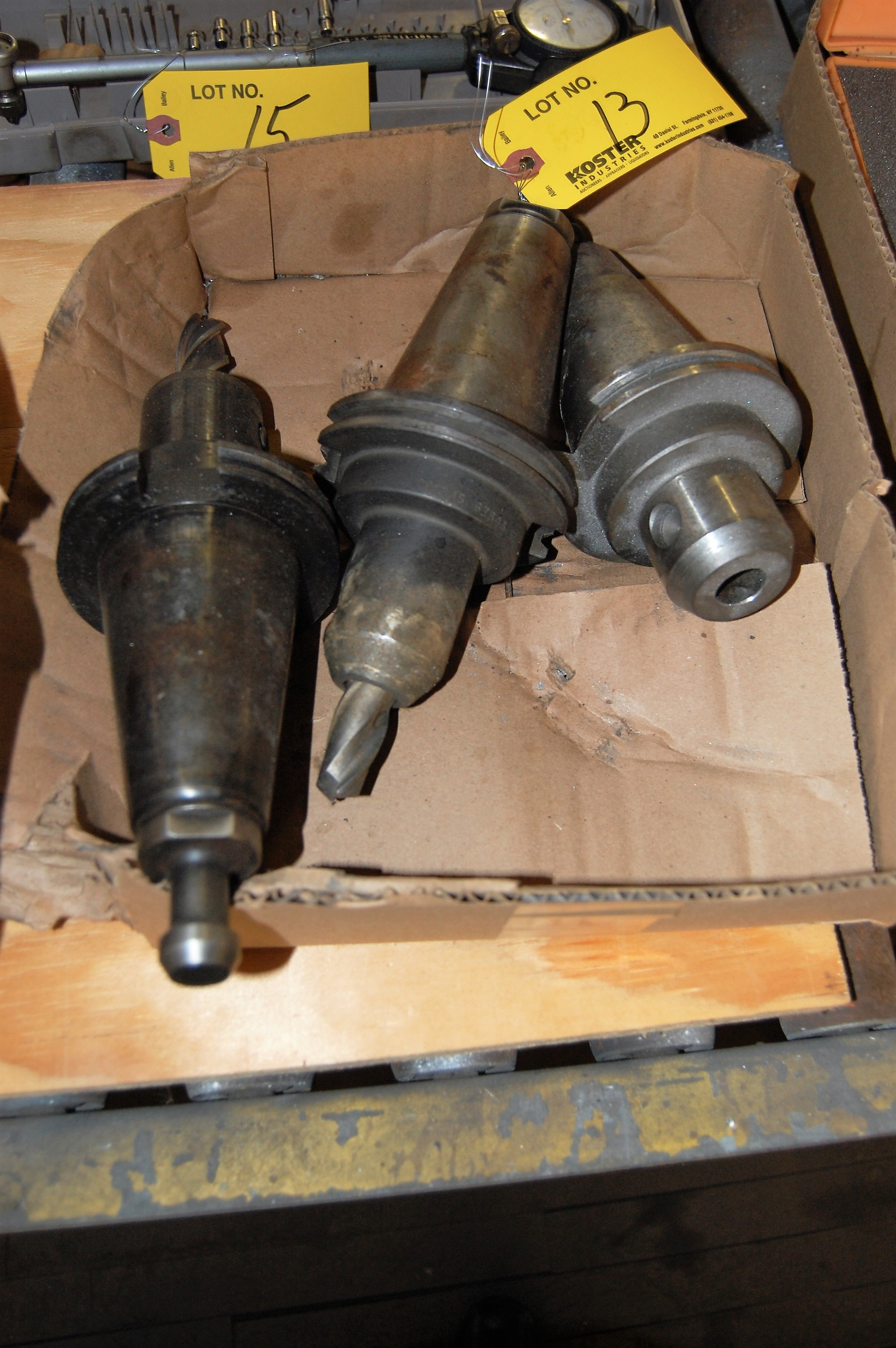 Lot 13 - (3) #50 TAPER TOOL HOLDERS (LOCATED IN HARRISON, NEW JERSEY)
