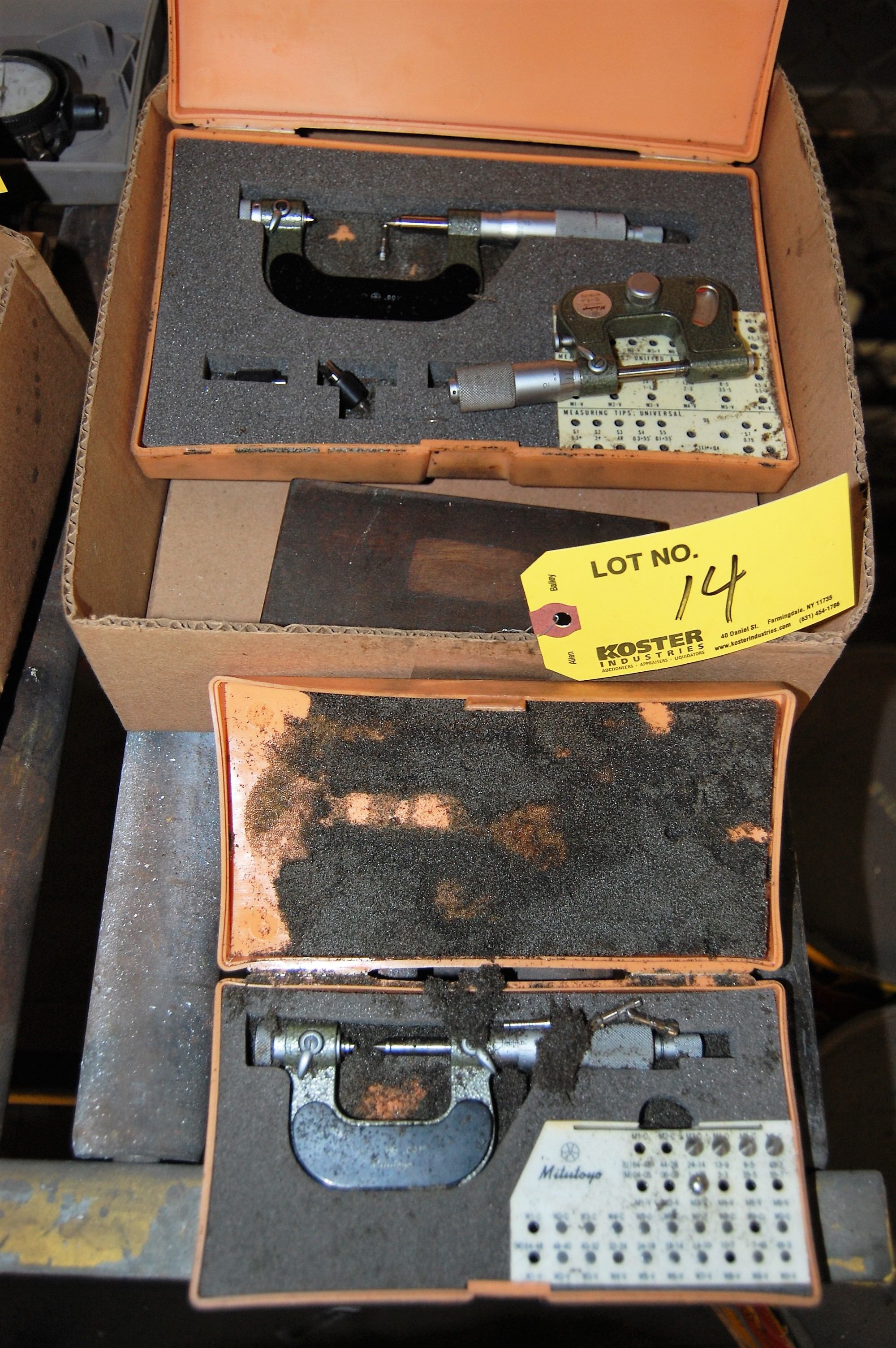 Lot 14 - MITUTOYO MICROMETER (LOCATED IN HARRISON, NEW JERSEY)