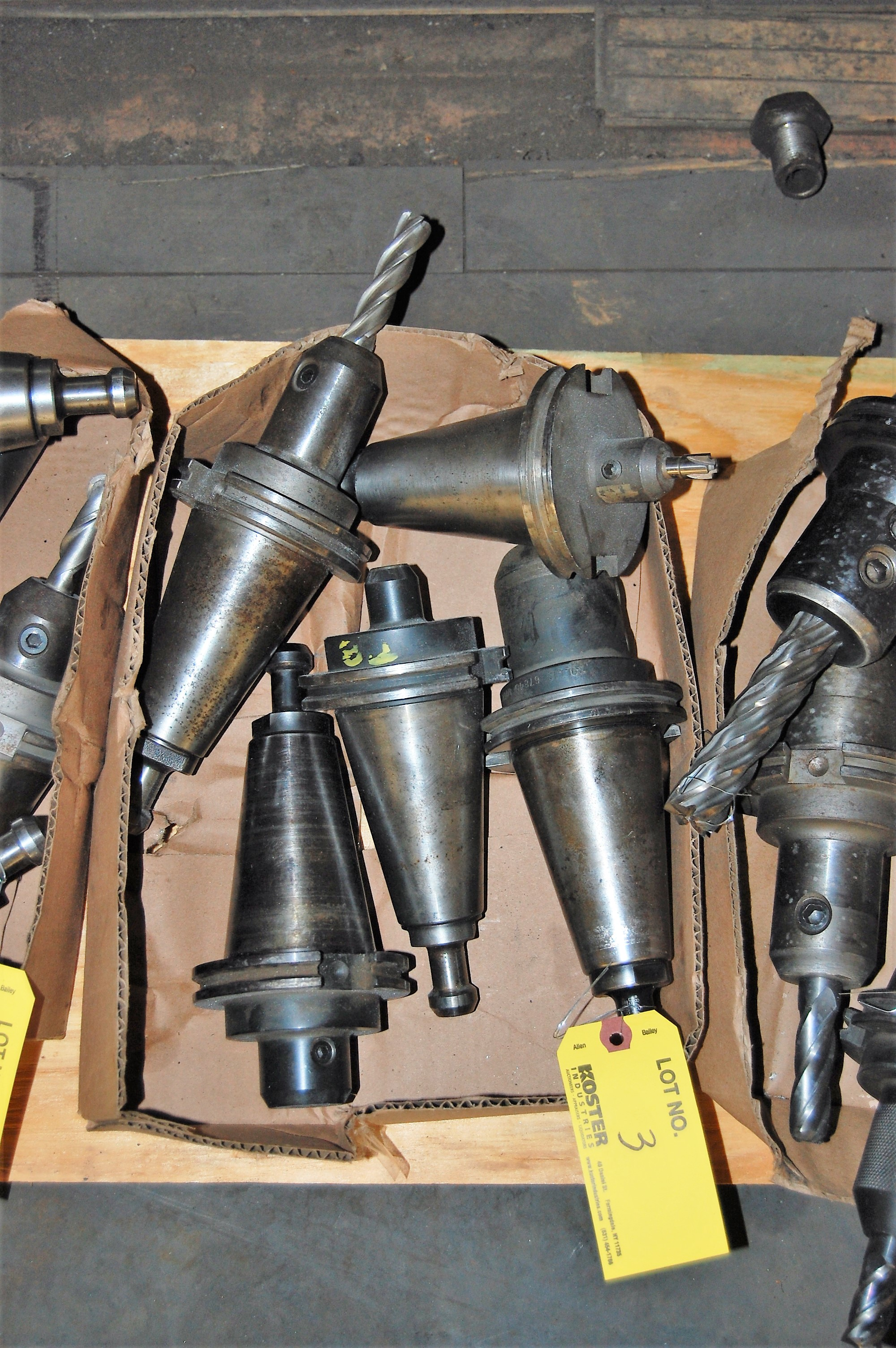 Lot 3 - (5) #50 TAPER TOOL HOLDERS (LOCATED IN HARRISON, NEW JERSEY)