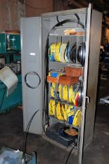 Lot 50 - DOALL CABINET WITH ASSORTED BANDSAW BLADES, GUIDES, HANDLES, CUTTING TOOLS (LOCATED IN HARRISON, NEW