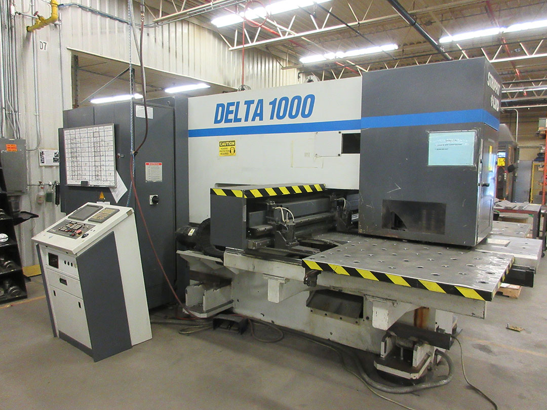 2000 strippit lvd delta 1000 tk 180 22 ton cnc turret punch 20 tool rh bidspotter com Hydraulic Punch Press Punch Press Operator