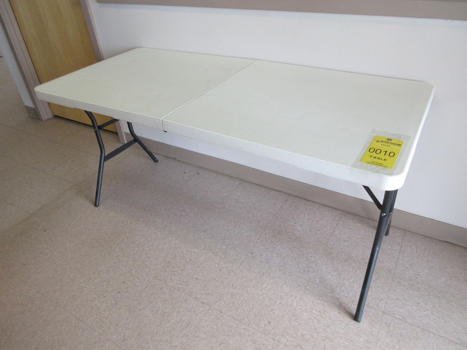 Lot 10 - 28'' X 60'' LIFETIME FOLDING TABLE