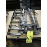 LOT OF BAR CLAMPS (7), assorted