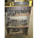 LOT OF SOCKETS & WRENCHES, w/cabinet