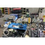 LOT CONSISTING OF: misc. hand tools, wrenches, pliers, sockets, electric drills, etc.