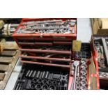 LOT OF TOOLBOXES, w/wrenches, sockets, etc.