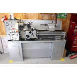 """ENGINE LATHE, VECTRAX 14"""" X 40"""" MDL. 82837915, new 2007, spds: 70-1500 RPM, geared head, English/"""