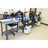 WORKBENCH ASSEMBLY LINE, (7) Workbenches w/(3) fume extractors (Location 2 - Fallstone A)